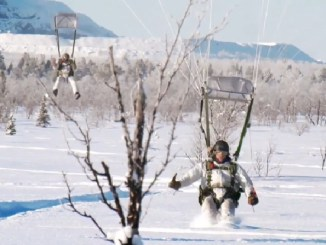 SOF winter warfare training above the Arctic Circle, Kiruna, Sweden. (Photo from SOCEUR video by SPC Liem Huynh, February 24, 2018).