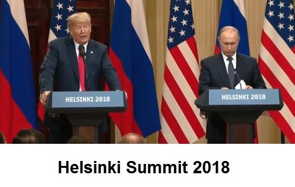 Helsinki Summit 2018 Putin and Trump meet in Finland on July 16, 2018
