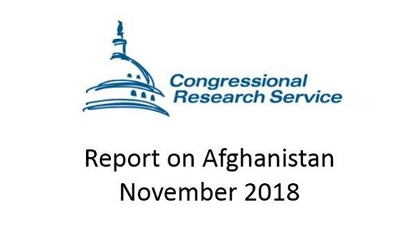 CRS Report on Afghanistan November 2018