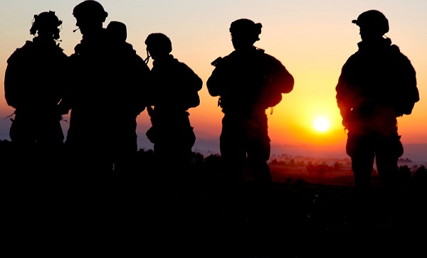 Soldiers at Sunset