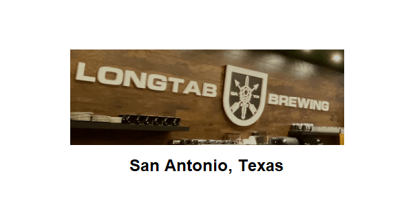 Longtab Brewing San Antonio, Texas