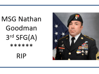 MSG Nathan Goodman - 3rd Special Forces Group - RIP