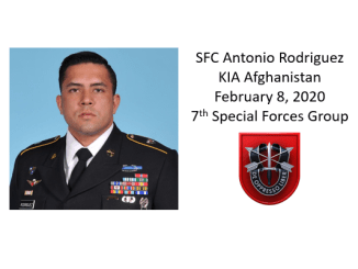 SFC Antonio Rodriquez, 7th Special Forces Group, KIA Afghanistan