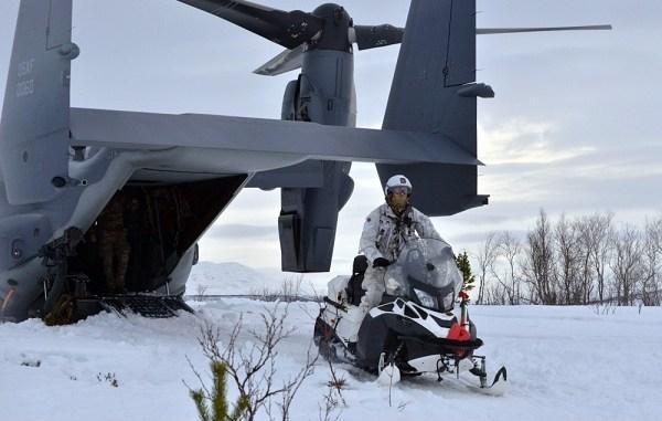 10th SFG RAPIDS Snowmobile CV-22B Osprey