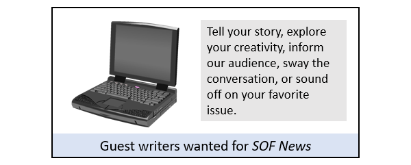 Guest Writers for SOF News