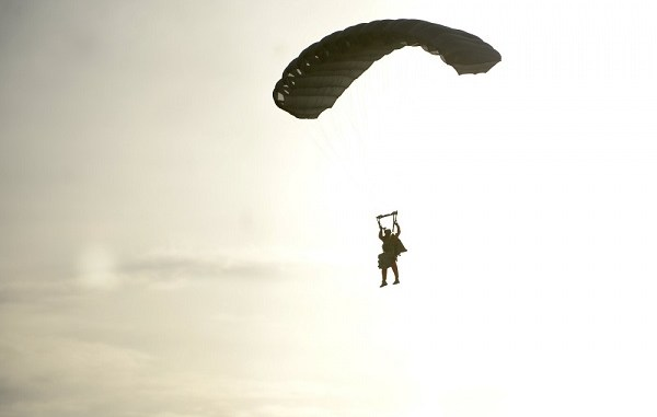 Military Free Fall Student Over Yuma, Arizona