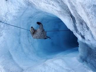 NSW Sailor Rappels into Glacier Shaft