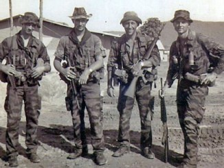Buck Walters - post-mission photo Vietnam 1966