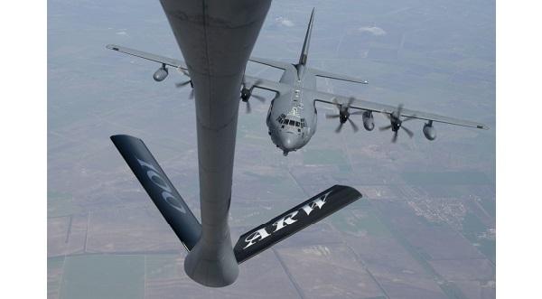 KC-135 refuels MC-130J