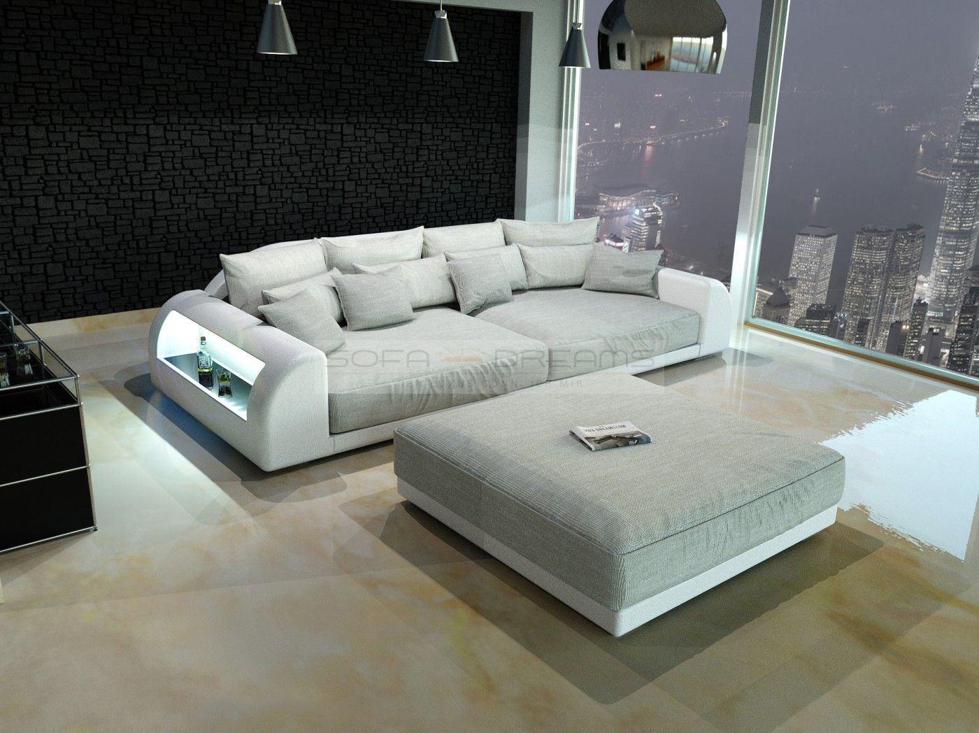 mega sofa caruso leather power motion sectional xxl big miami megasofa with illumination