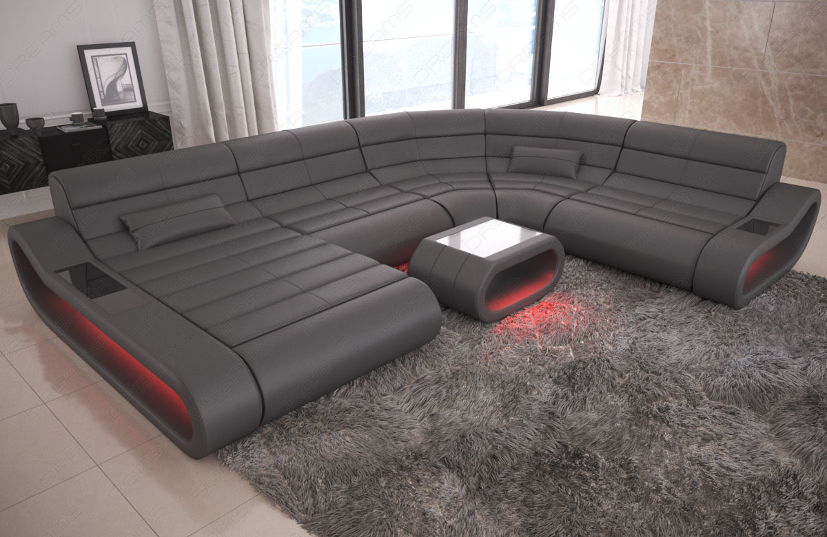 Sofa Grau Ottomane Details About Luxury Sectional Sofa Concept Xl Design Couch Big Led Lights Ottoman