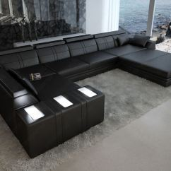 Dark Grey Sectional Sofa With Chaise Leather Discoloration U Form - Angebote Auf Waterige