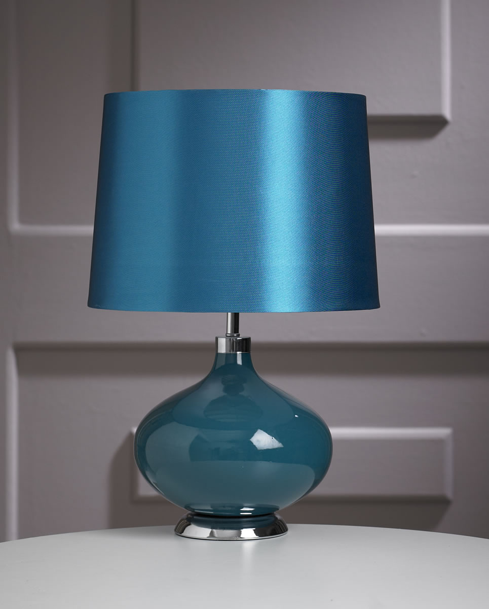 bedroom chairs ebay merax hammock dream chair contemporary teal ceramic marilyn round base table lamp – 42cm height |