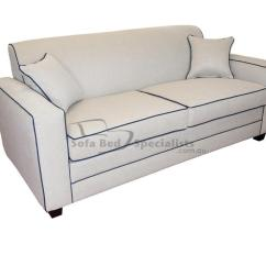 Blue Sofa White Piping Oak Furniture Land Warranty With Chesterfield 2 Seater Sy Grey