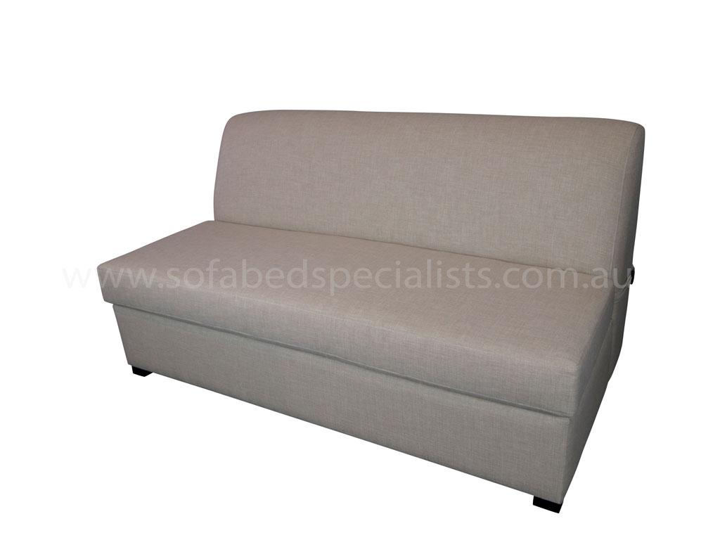 single armless sofa chair beech wood table sofabed with innerspring mattress bed