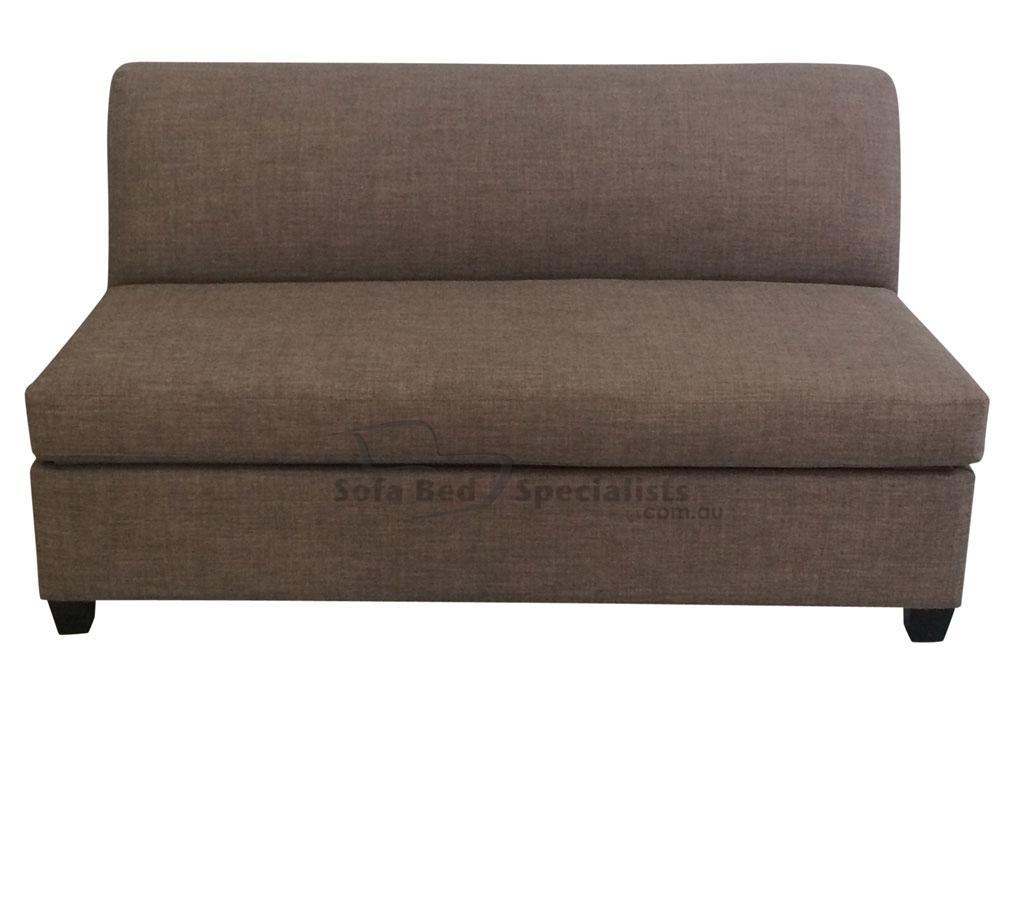 compact sofa bed australia hollywood regency curved double armless sofabed with innerspring mattress