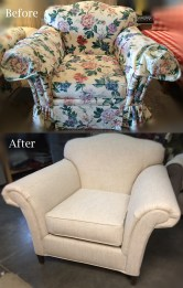 Rolled Arm Chair Before and After