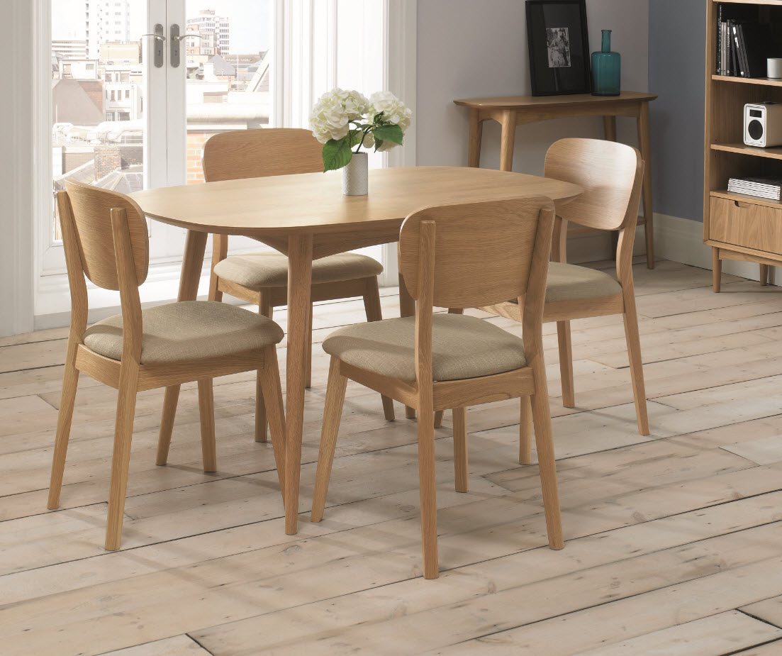 4 seater table and chairs girly desk chair stockholm seat oak dining sofa concept