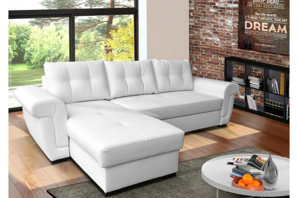white leather corner sofa bed amber