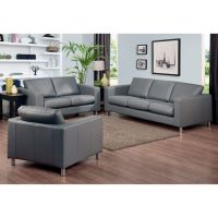 Always suitable grey leather couch | Couch & Sofa Ideas ...