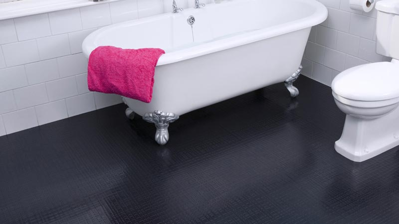 Rubber Bathroom Flooring Provides Safety And