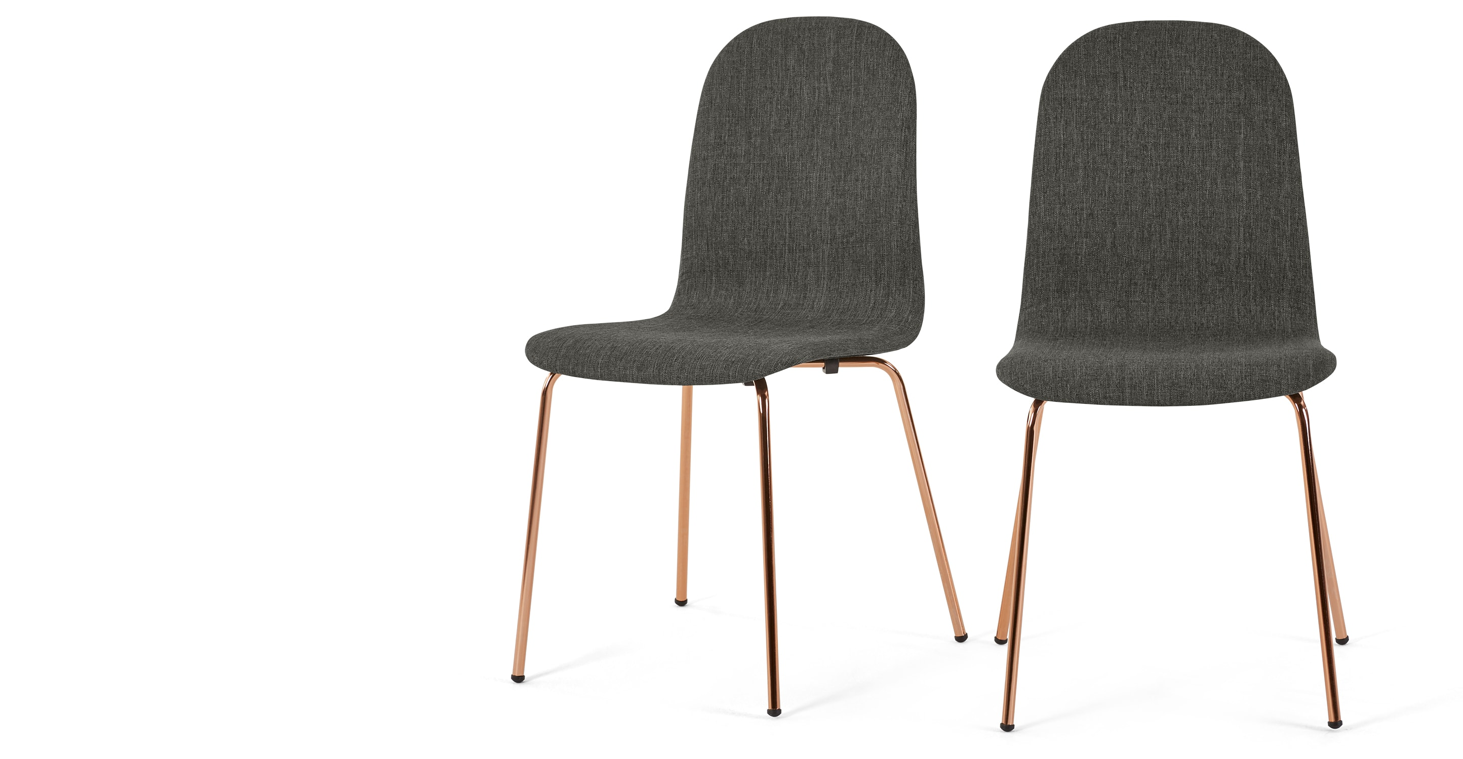 Copper Dining Chairs 2 X Mino Dining Chairs Pavillion Grey And Copper