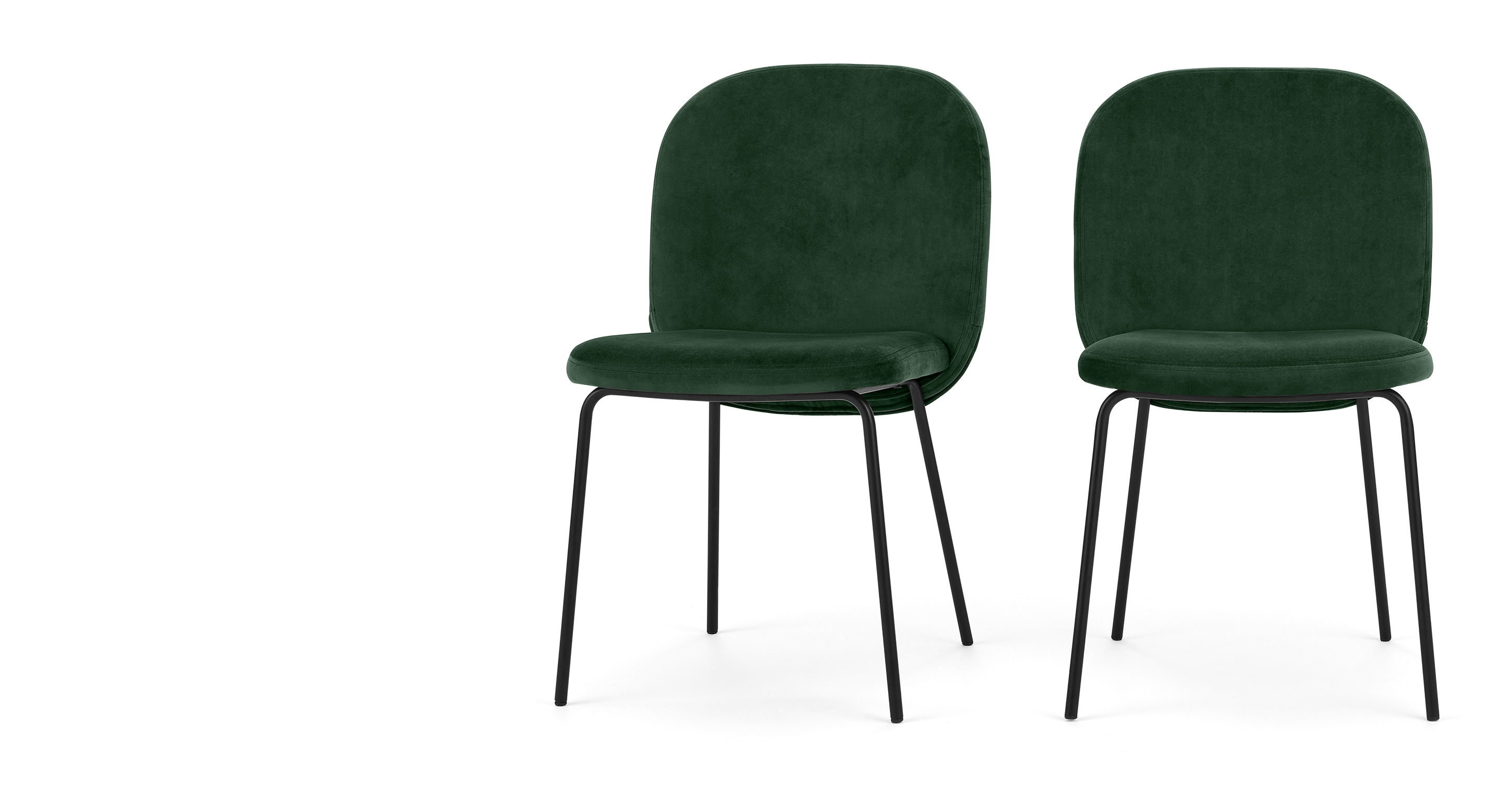 Green Velvet Dining Chairs 2 X Safia Dining Chairs Pine Green Velvet Sofas Etc