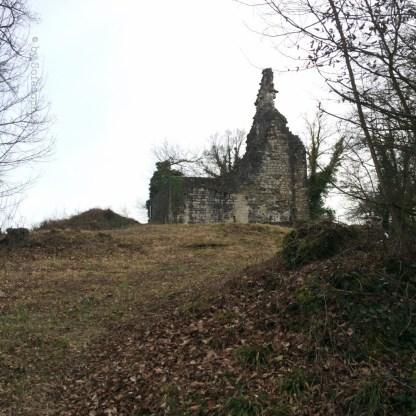 Ruine von unten