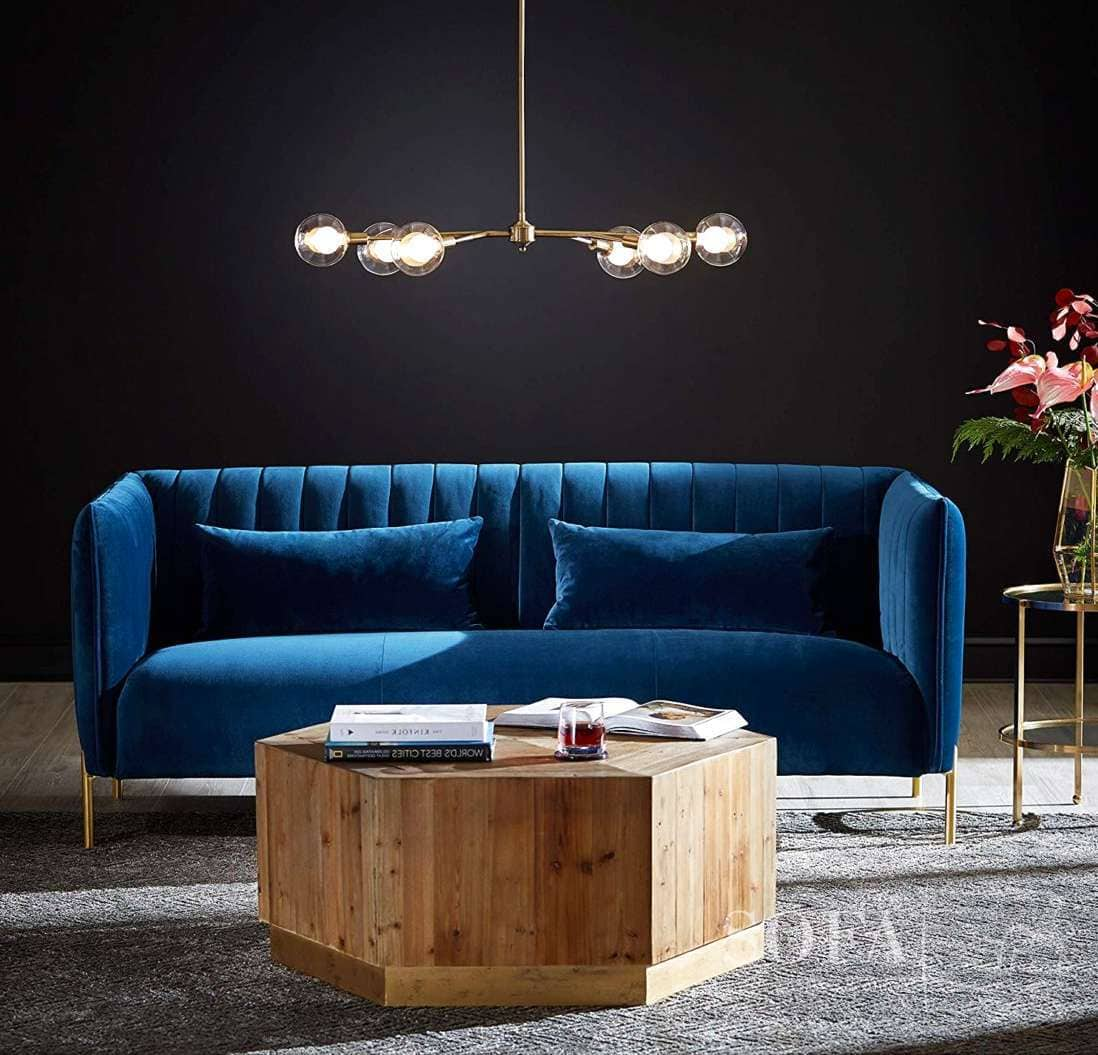 Top 3 Blue Velvet Couches   Plush & Stylish Best In 2021