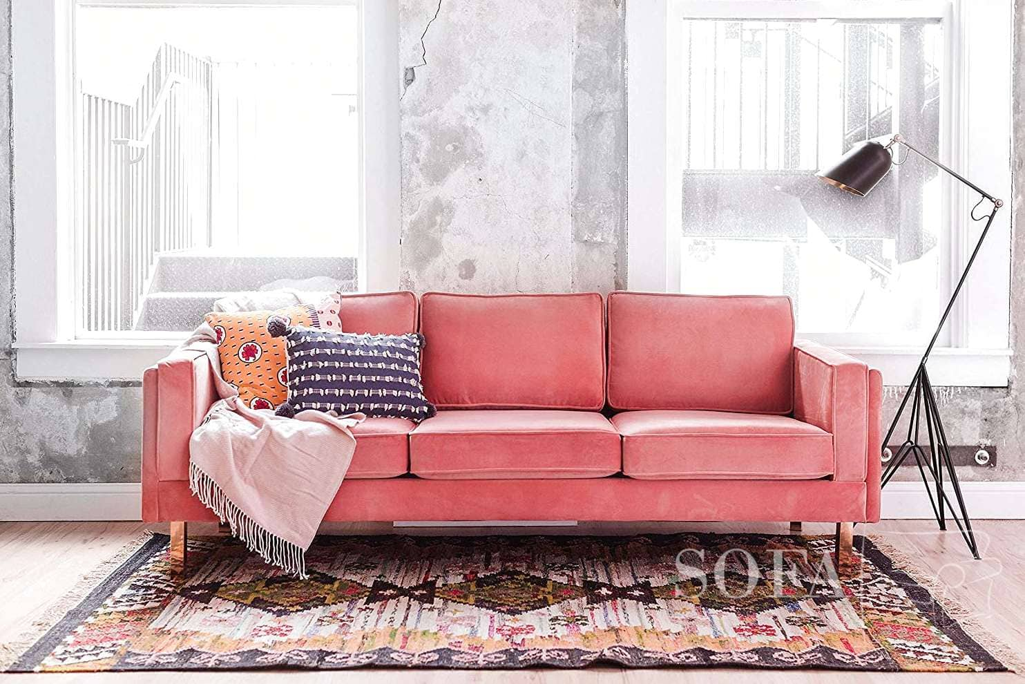The Best 3 Pink Velvet Couches   Top Picks Of 2021