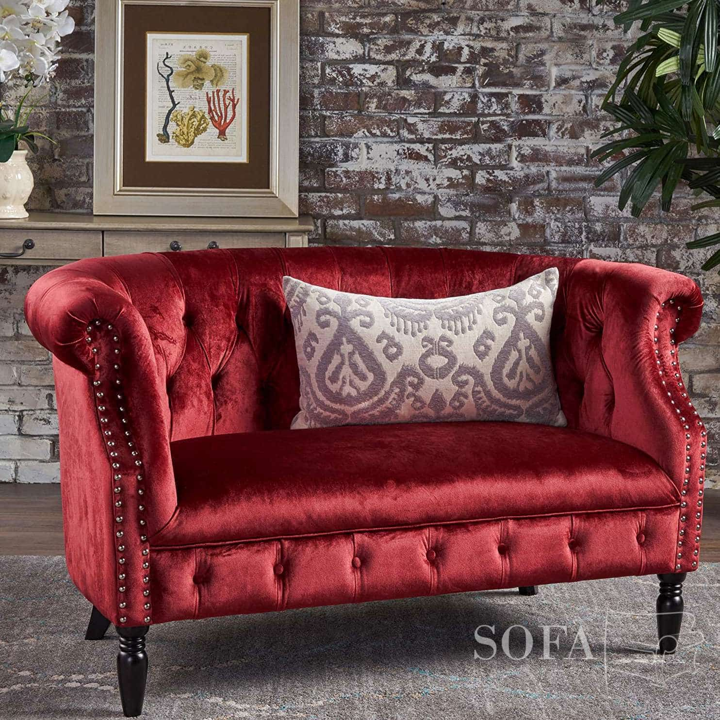 The Best Red Velvet Couches Of 2021   Sofa Spring