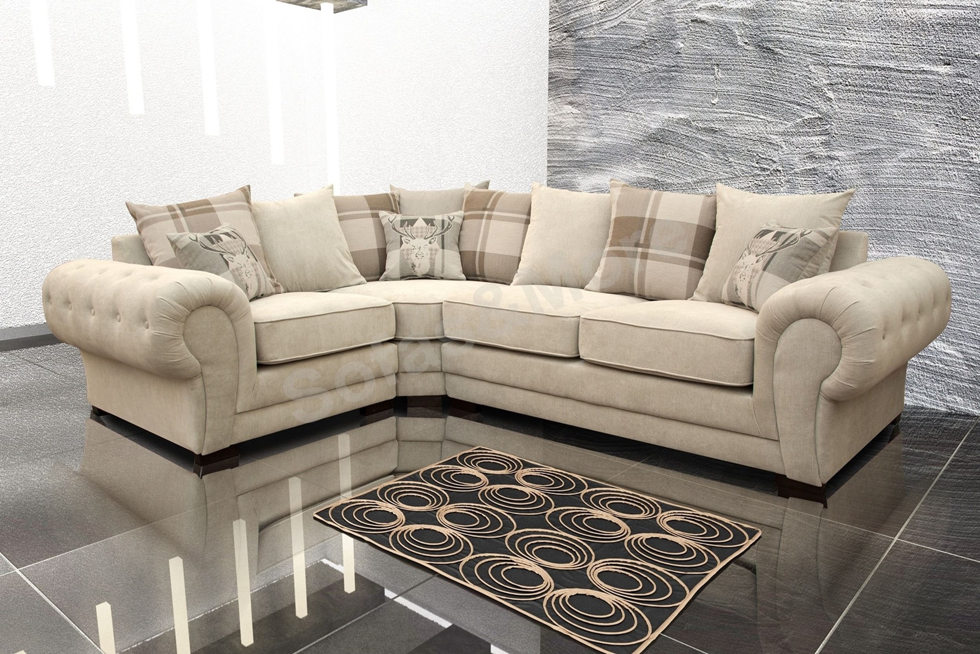 cheap cream sofa how to stop cats scratching leather fabric corner energywarden