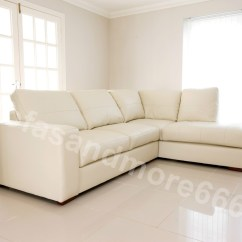 Cream Leather Sofa Set Uk Covers Low Price Brand New Westpoint Big Corner Suite In Faux