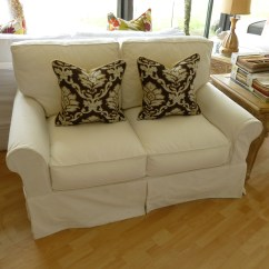 White Denim Sofa Covers Dfs Brown Leather Bed U Love Custom Made In Usa Furniture Sofas