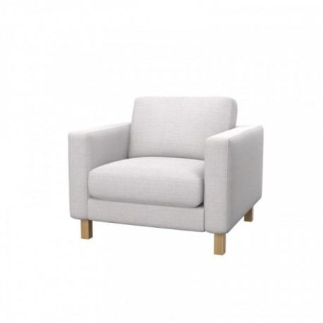 ikea karlstad chair cafe table and chairs armchair cover soferia covers for sofas softi beige