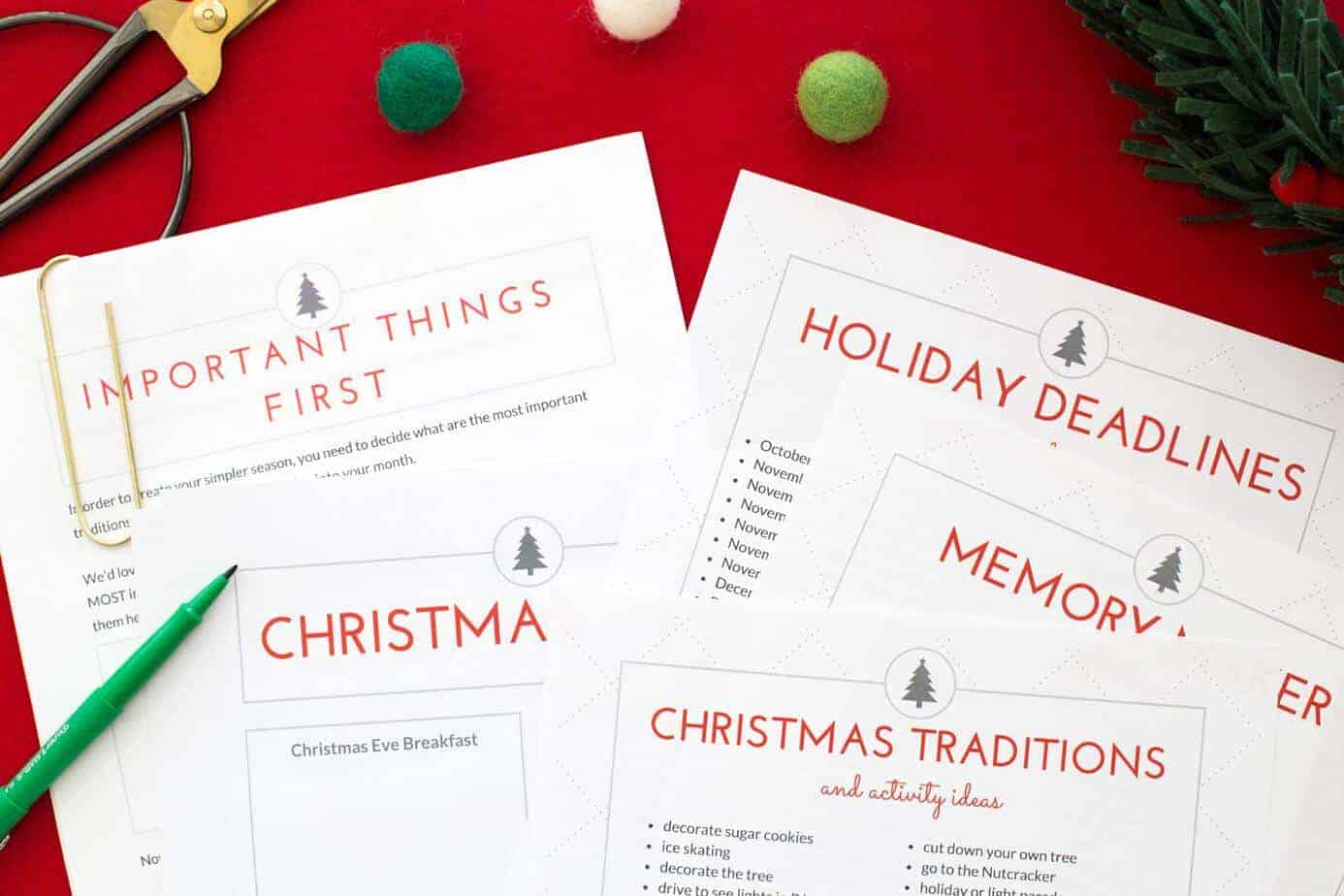 How To Organize Your Entire Christmas Season With A