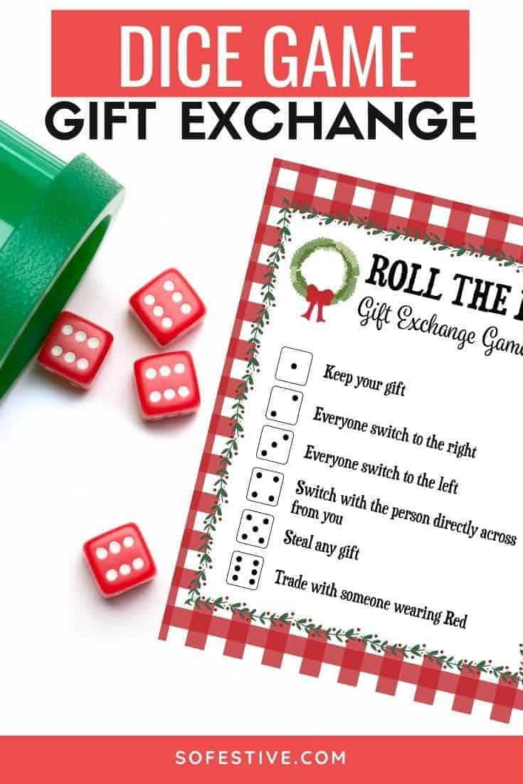 White Elephant Dice Game Rules : white, elephant, rules, Exchange, Printable, SoFestive.com