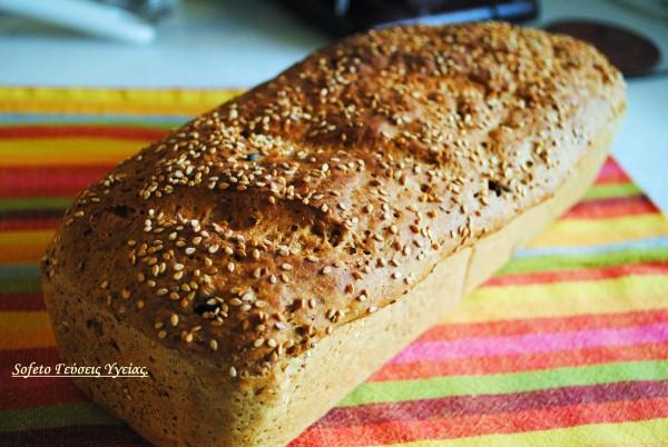 ψωμί με σταφίδες και κραμπερι
