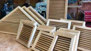 Assorted gable vents, off to a project at a local ski resort.