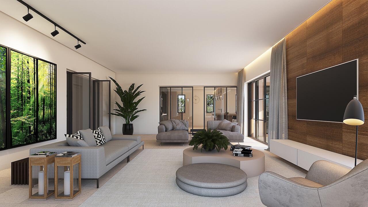 Casa MG 3D - Sala de Estar | MG House 3D - Living Room