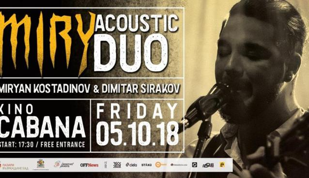 MIRY Acoustic Duo Kino Cabana October 5