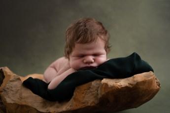 baby grønt tæppe træskål