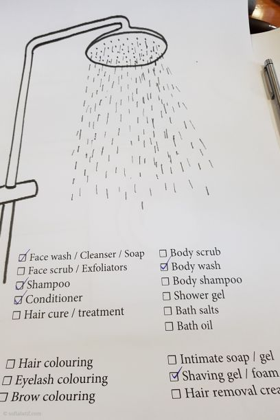Products exposure in the shower