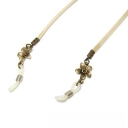 Χειροποίητα κοσμήματα γυαλιών, μοντέρνα, νεανικά αλλά και κλασικά σχέδια. Μία μεγάλη ποικιλία για να συνδιάσετε τα γυαλιά σας. Δερμάτινα κορδόνια, εντυπωσιακές αλυσίδες συνδιασμένα με όμορφες πέτρες και κρυσταλλάκια.Το μήκος του κορδονιού μπορούμε να το αλλάξουμε εαν επιθυμείτε ,φτάνει να το γράψετε στις παρατηρήσεις της παραγγελίας