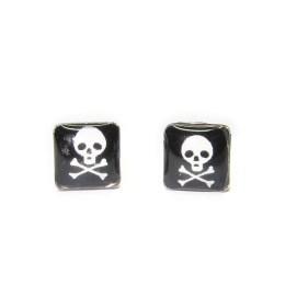 Ανδρικά σκουλαρίκια,ανδρικά κοσμήματα,νεκροκεφαλή