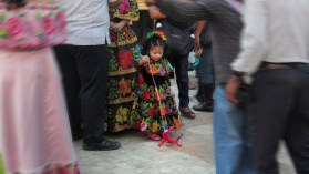 Little girl in the fiestas