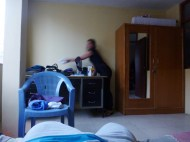 in my room! hehe