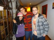 With Carla from Peru, which I met in Arequipa and Michell and Rafael from Brazil