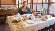 Having continental breakfast!!!