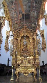 inside Igreja Nossa Senhora do Amparo. Everything is made of gold :)